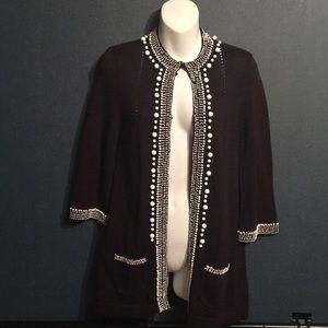 Nanette Lenore sz XS beaded cardigan Sweater
